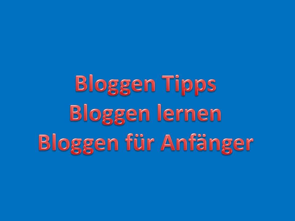 Bloggen Tipps, Bloggen lernen, Bloggen für Anfänger